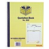Spirax Quotation Book 502 NCR Quarto