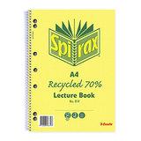 Spirax Lecture Book No. 814 A4 140 Pg