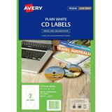 Avery Laser Labels L7676 2Up CD/DVD