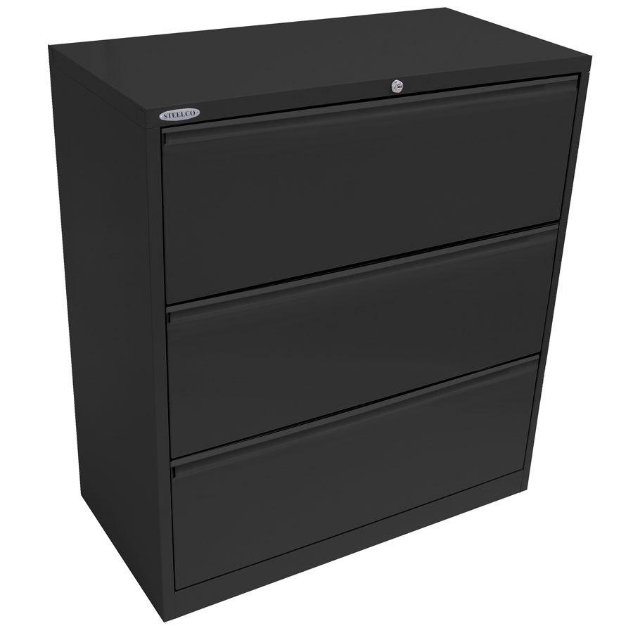 Lateral Filing Cabinet 3 Drawer 1015H CABI4035GR on 2 Drawer File Cabi