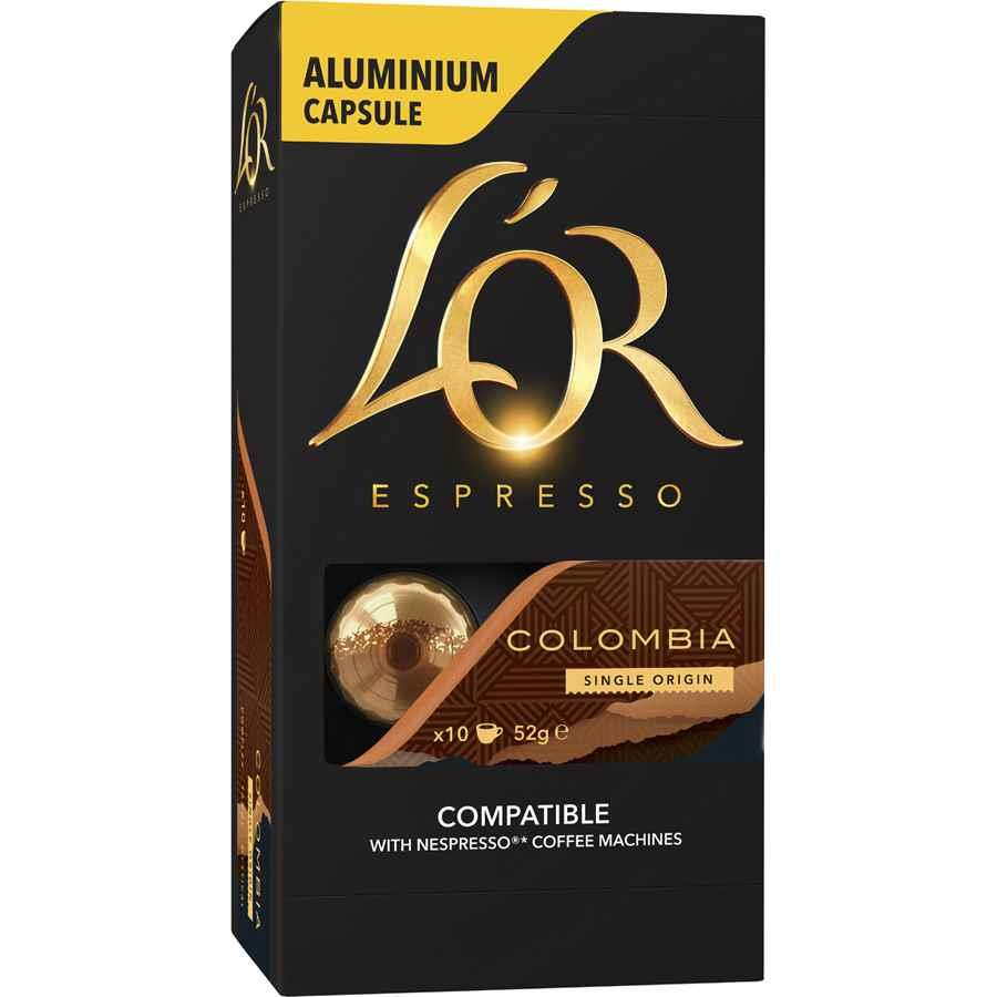 l 39 or espresso colombia capsules coff3420 cos complete office supplies. Black Bedroom Furniture Sets. Home Design Ideas