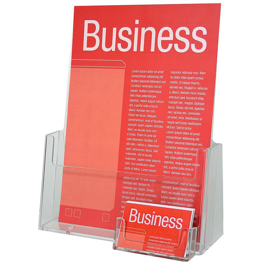 Esselte a4 brochure bus card holder dest8046 cos for Flyer holder with business card