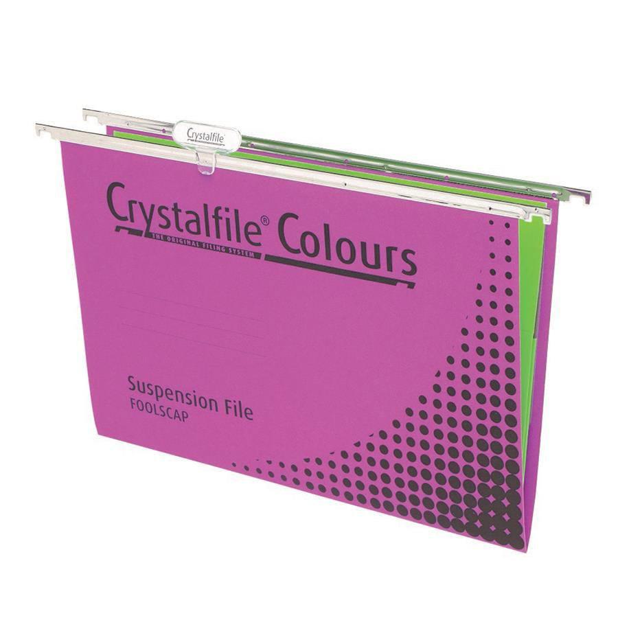Crystalfile suspension file foolscap file4555 cos for Suspension fille