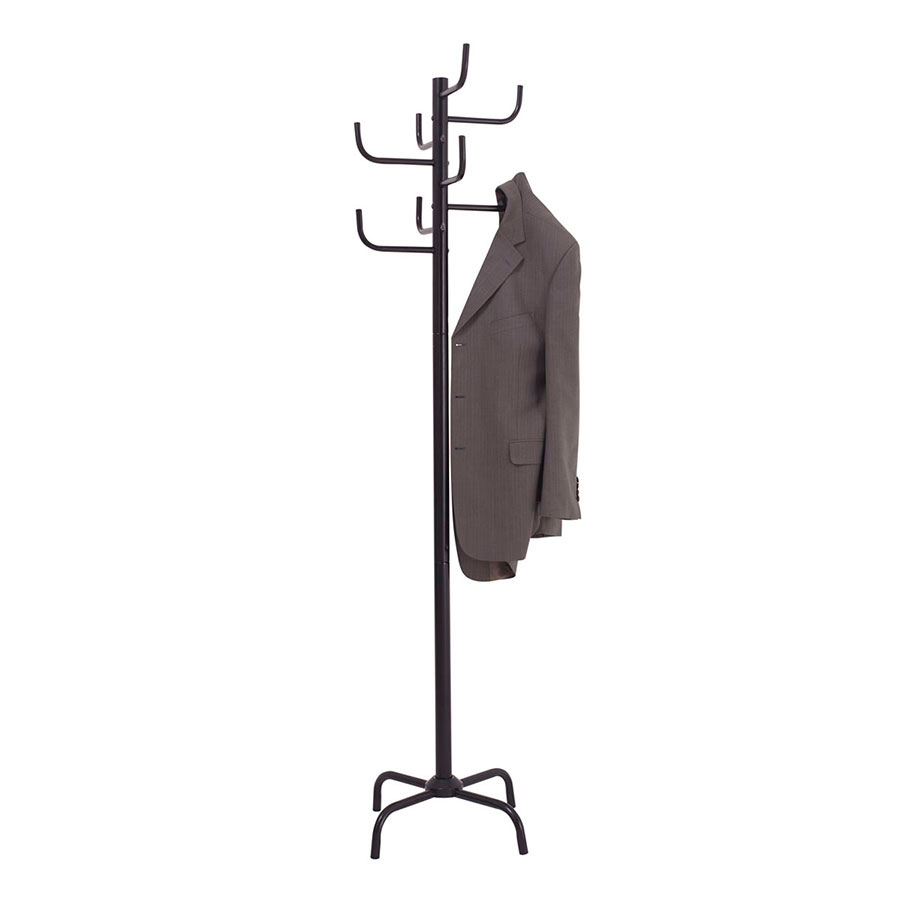 Grid Coat Rack In Office Accessories: Jastek Coat Rack 8 Hooks Black