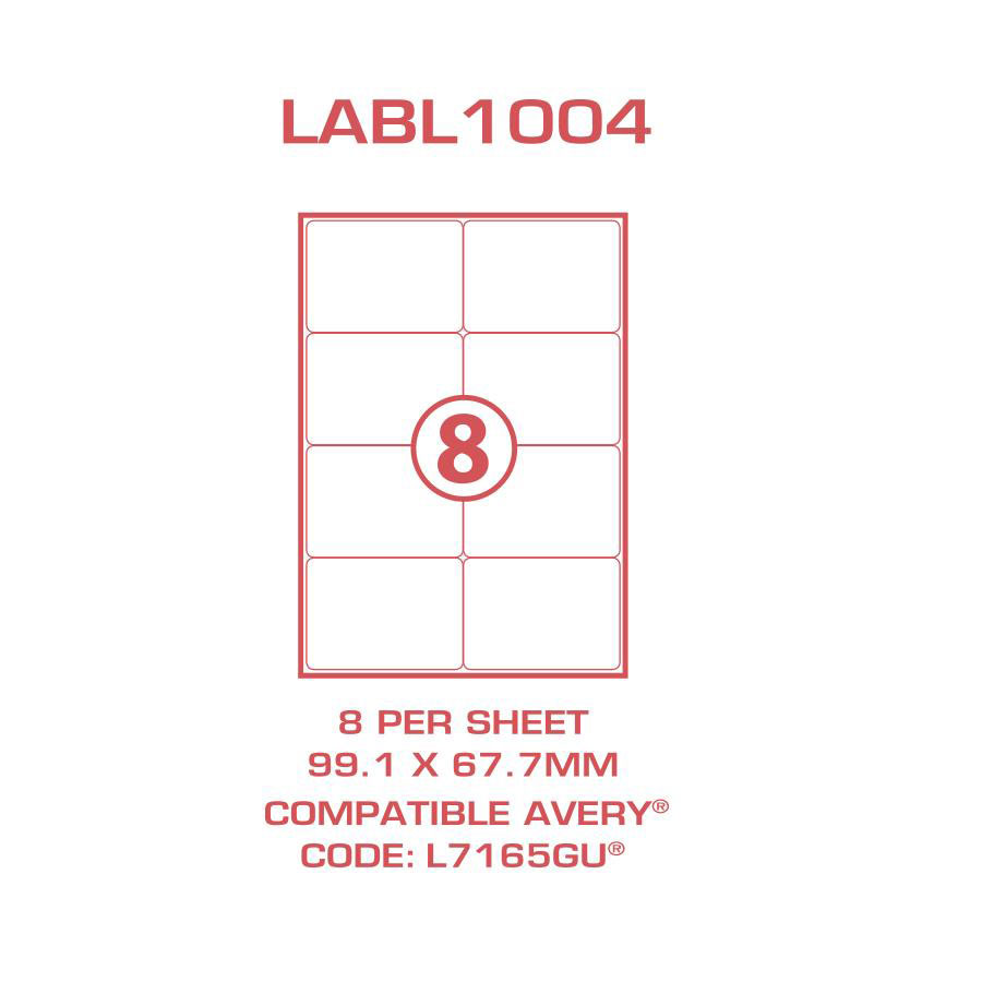 Cos multi use labels l7165gu 8 sheet cos complete for 99 1 x 67 7 mm label template