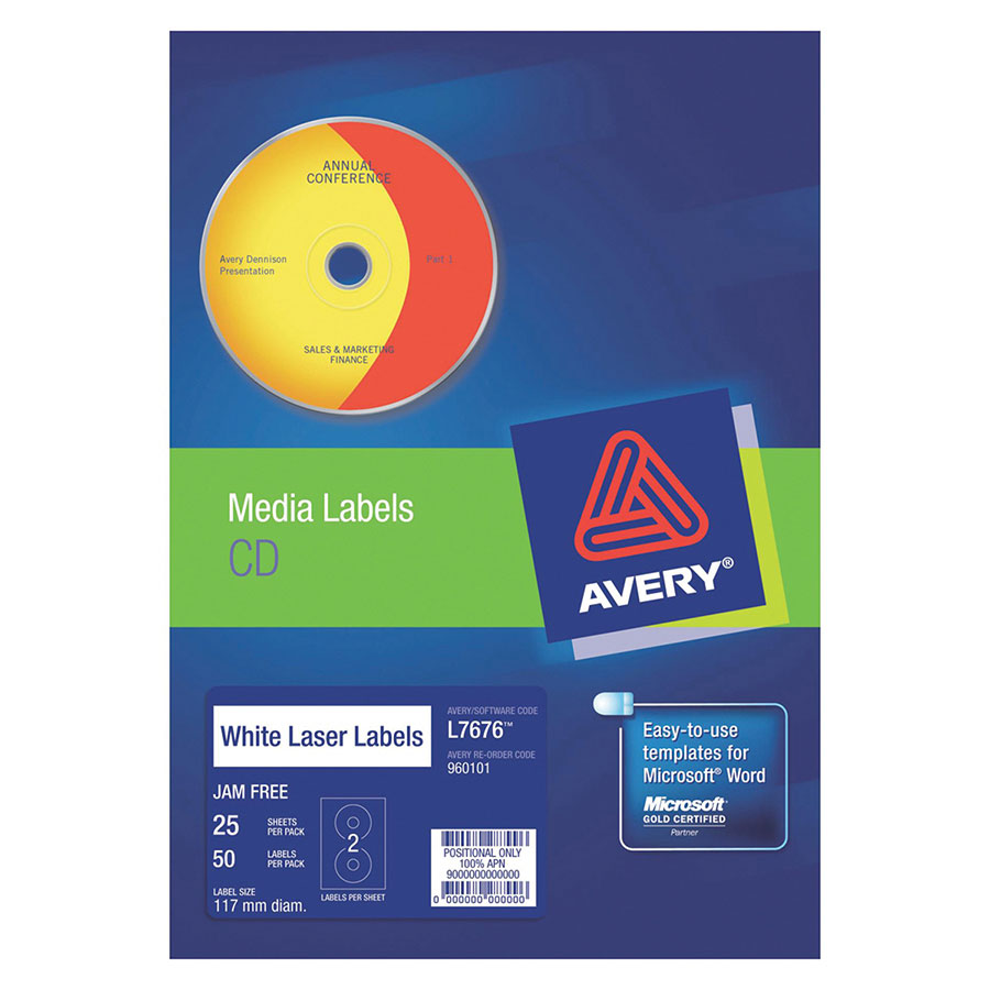 Avery laser labels l7676 2up cd dvd cos complete for Avery disc labels