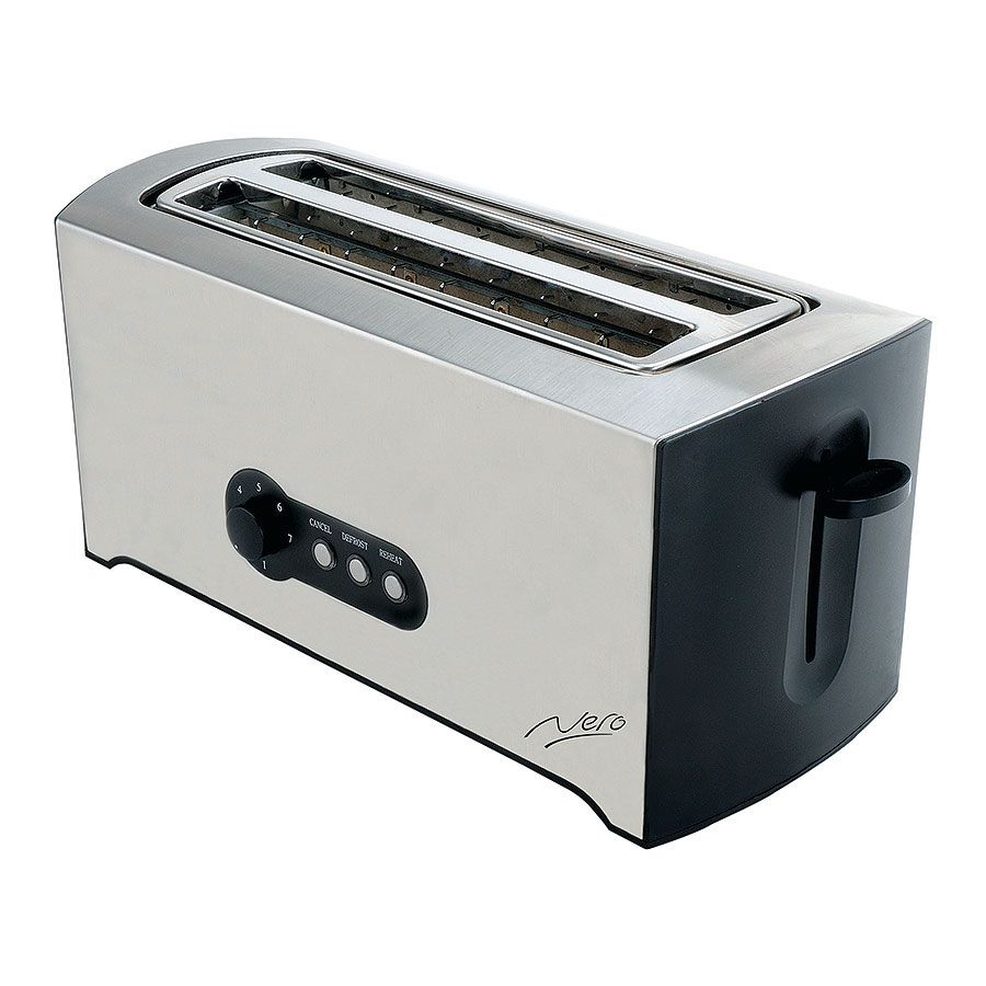 Nero Toaster 4 Slice Stainless Steel Cos Complete