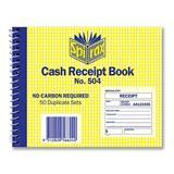 Spirax Cash Receipt Book 504 NCR 1-View