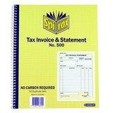 COS Spirax Tax & Invoice Book #500 NCR