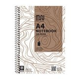 BOOK9010 Muru Spiral Notebook A4 120 Pg