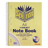 COS Spirax 5-Subject Notebook 596C A4 250 Pg