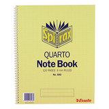 COS Spirax Notebook 593 Quarto 120 Pg