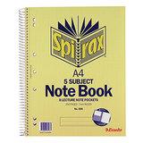 Spirax 5-Subject Notebook 596 A4 250 Pg
