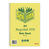 COS Spirax Book 810 A4 70% Recycled 120 Pg