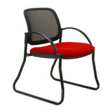 COS Mesh Back Visitor Chair Sled