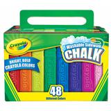 CHAL6021 Crayola Washable Sidewalk Coloured Chalk