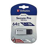 COS Verbatim Secure USB 3.0 Drive 64GB