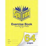 COS Spirax Exercise Book A4 14mm DT 64 Pg