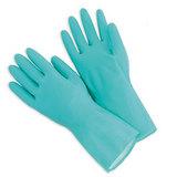 GLOV1524 Rubber Gloves Silverlined Medium