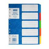 Manilla Dividers A4 5 Tab Extra Wide