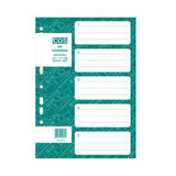 COS Recycled PP Dividers A4 1-5 Tab