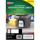 COS Avery Ultra Heavy Duty Labels L7912 24Up