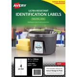 COS Avery Ultra Heavy Duty Labels L7915 4Up