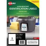 COS Avery Ultra Heavy Duty Labels L7916 2Up