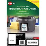 COS Avery Ultra Heavy Duty Labels L7917 1Up