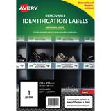 COS Avery Laser Labels L4775REV 1 /Sheet