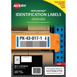 COS Avery Triple Bond Labels L6140 40Up
