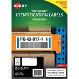 COS Avery Triple Bond Labels L6141 24Up