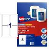 COS Avery Removable Labels L7169REV-25 4Up