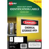 COS Avery Laser Labels L7060 21/ Sheet Hduty