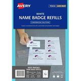 COS Avery Laser Name Badge Refill L7418 8Up