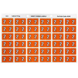COS Avery Lateral Filing Labels Numeric *2*