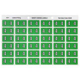 LABL93104 Avery Lateral Filing Labels Numeric *4*