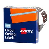COS Avery Lateral Filing Labels Year *19*