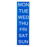 COS Magnetic Days 25 x 25mm White On Blue