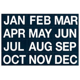COS Magnetic Months 50 x 25mm White On Black