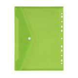 POCK6021 Marbig Binder Pocket with Button A4