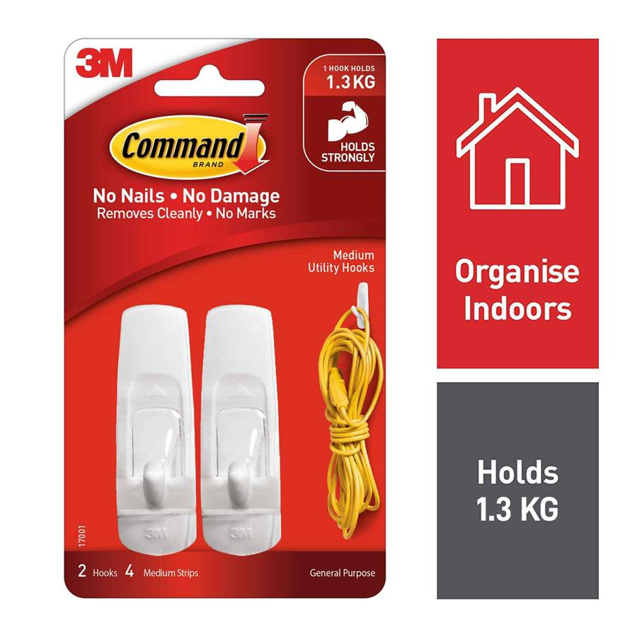 3m Command Hooks 17001 Medium Adhe8020 Cos Complete