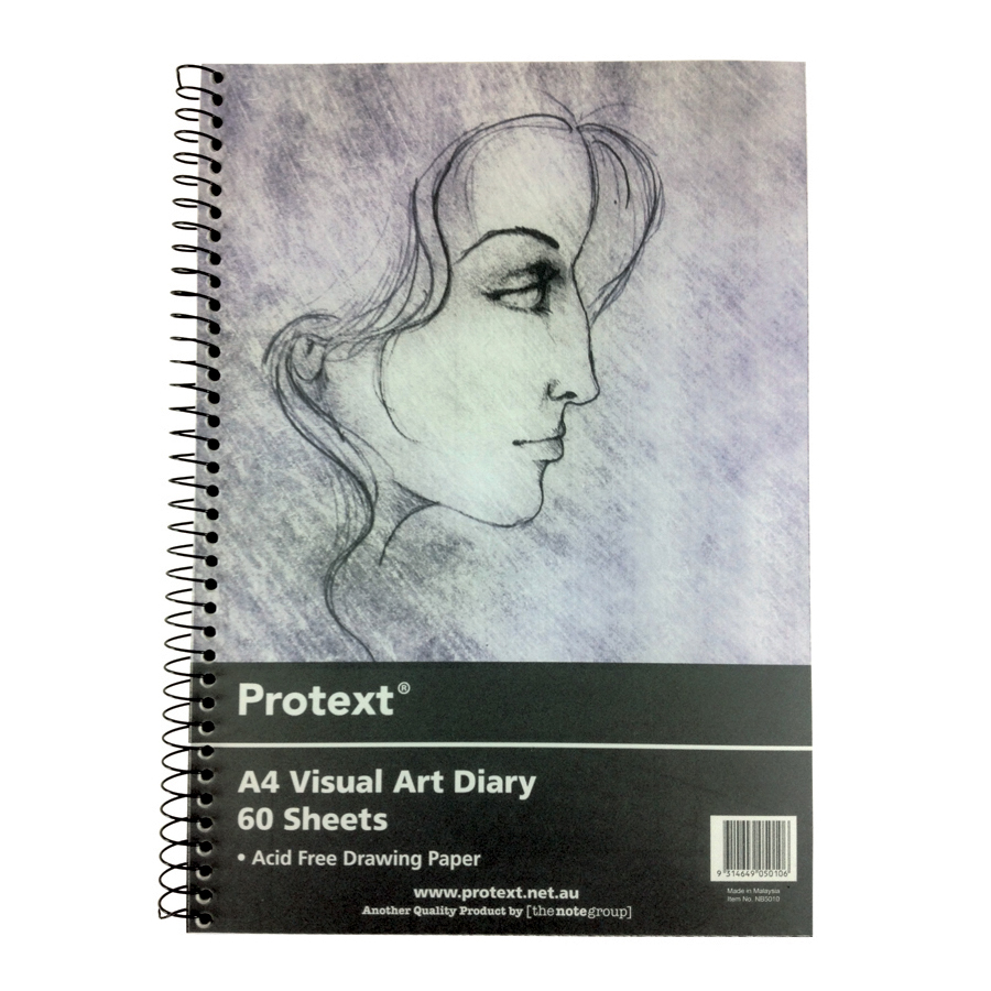 Protext Visual Art Diary PP Cover A4