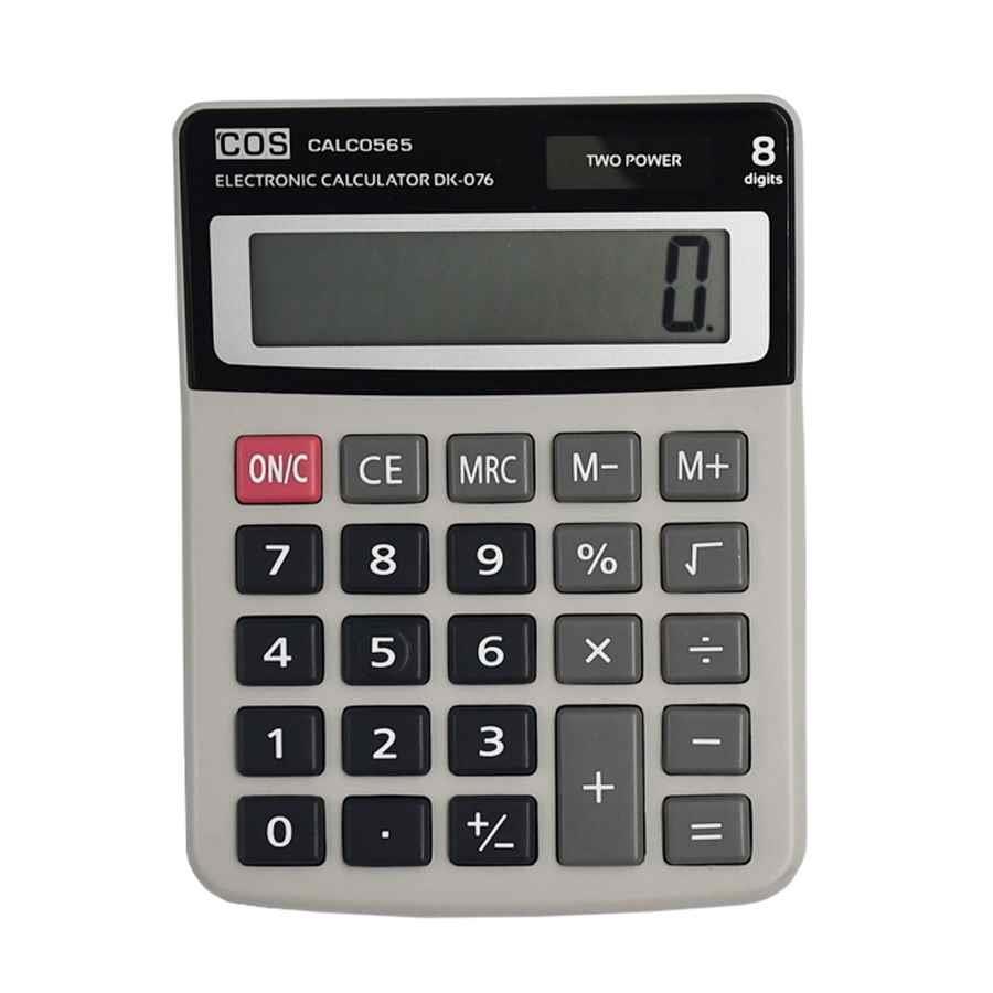 cos 8 digit basic desktop calculator calc0565 cos. Black Bedroom Furniture Sets. Home Design Ideas