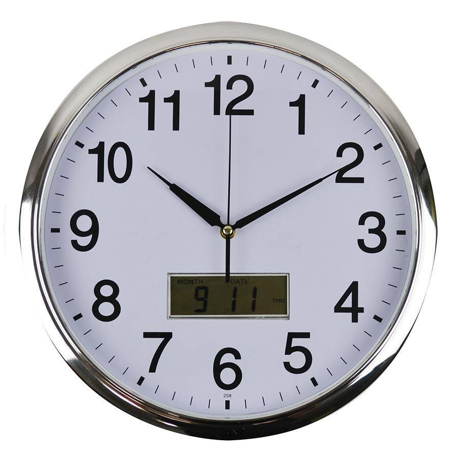 office wall clocks large. 360mm Wall Clock With LCD Display Office Clocks Large L