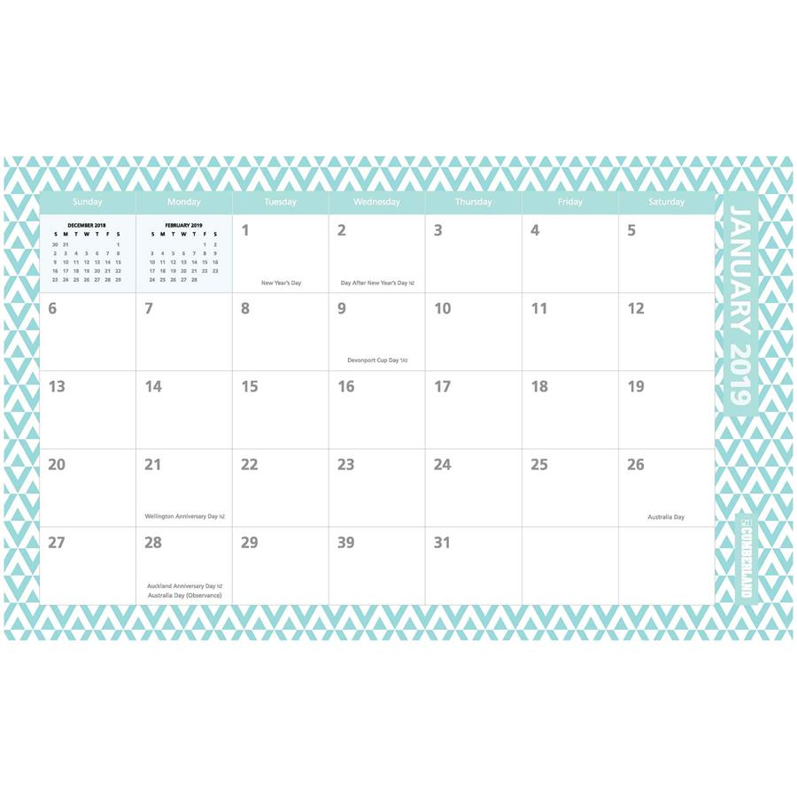 Desk Wall Fashion Planner Monthly 2019 Dia15549 Cos