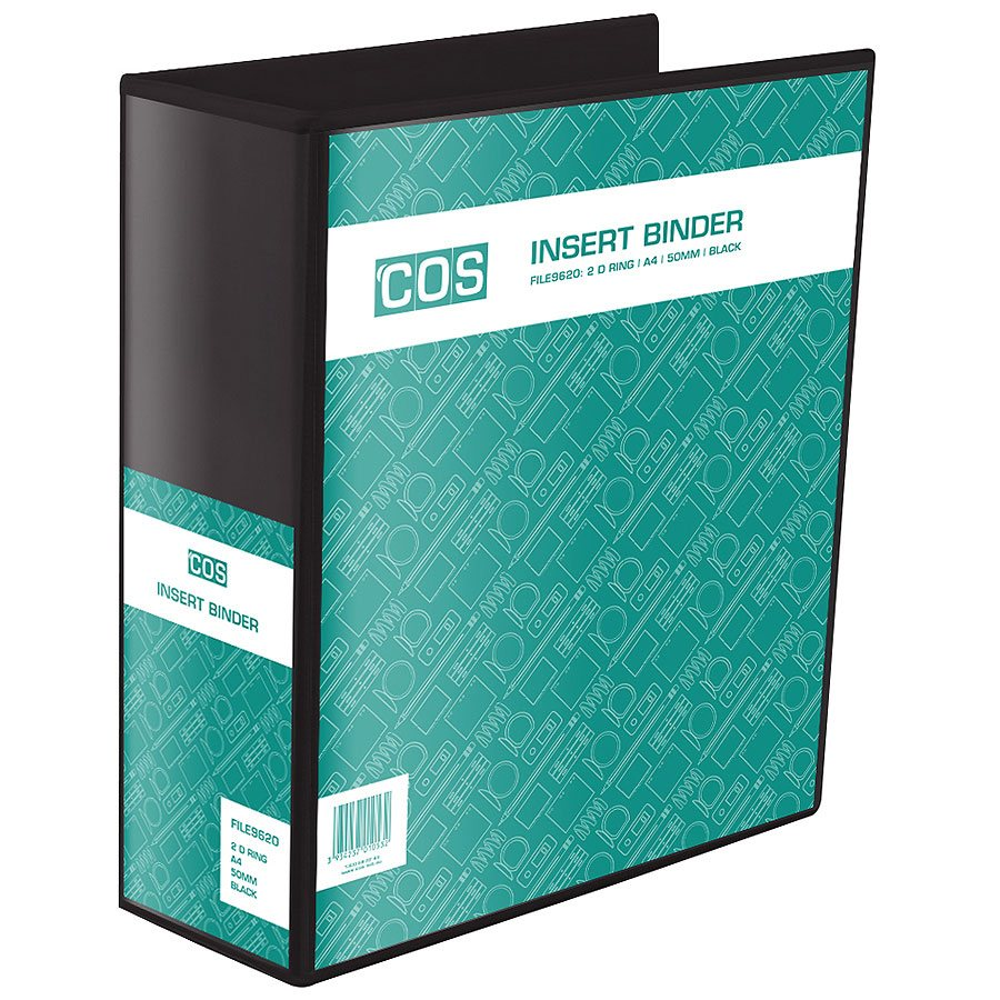 cos insert binder a4 2 ring 50mm file9620 cos complete office