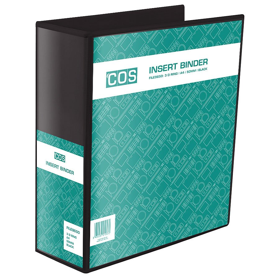 cos insert binder a4 3 ring 50mm file9650 cos complete office