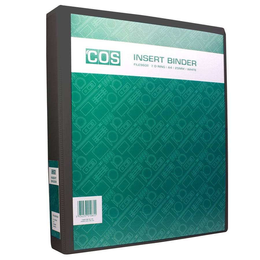 cos insert binder a4 4 ring 25mm file9660 cos complete office