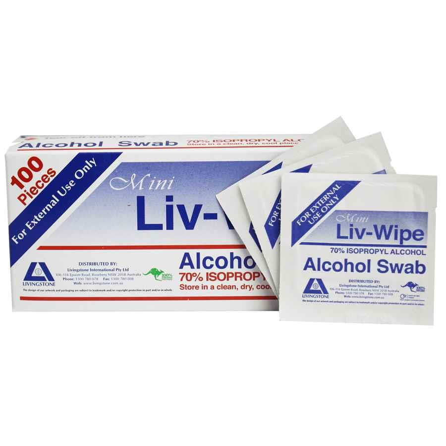LIV-WIPE Alcohol Wipes Large - FIRST1067 | COS - Complete